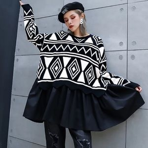 The Ronelah Abstract Tail Sweater